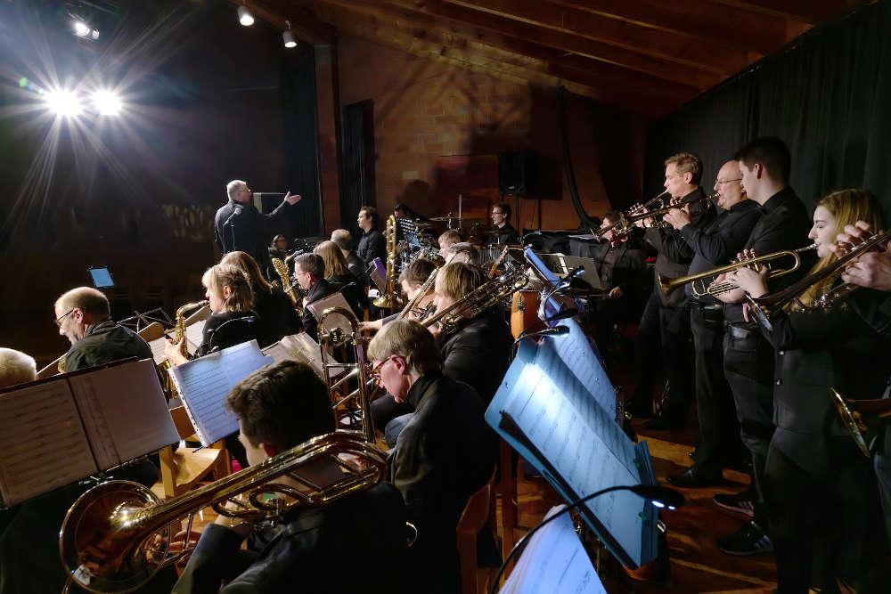 Die Brass Connection der Stadtkapelle Landau ist nächster Gast des LandauLivestreams. (Foto: Josef-Stefan Kindler)