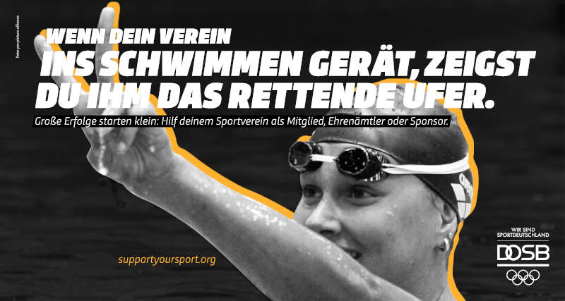 Kampagne SupportYourSport - Franziska van Almsick (Foto: DOSB/pa.picture alliance)