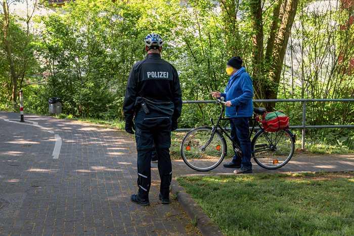 Kontrolle von Radfahrer