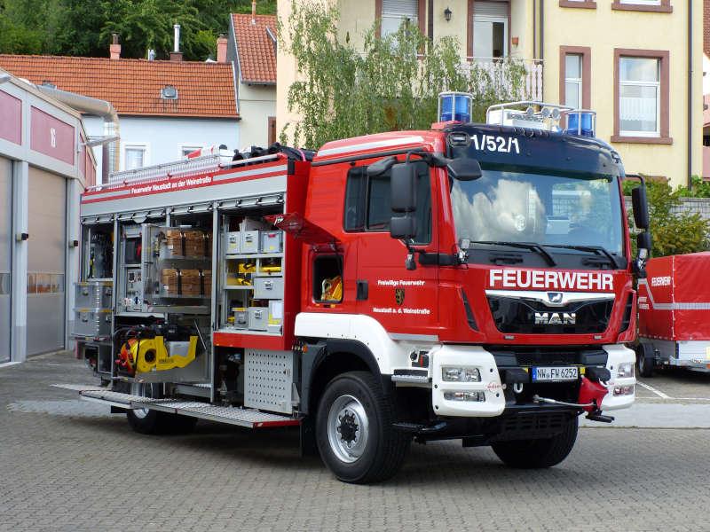 Der neue Rüstwagen (Foto: Feuerwehr Neustadt)