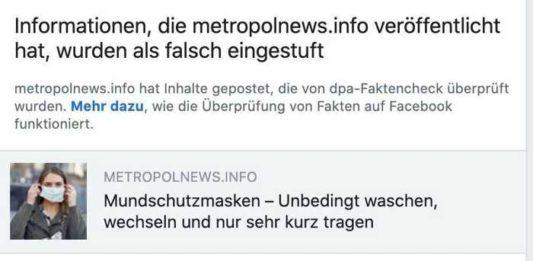 Screenshot Facebook redaktion Metropolnews