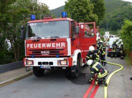 Einsatz im Heidenbrunnenweg (Foto: Feuerwehr Neustadt)