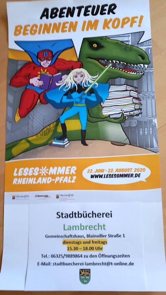 """Abenteuer beginnen im Kopf"" (Foto: Stadtbücherei Lambrecht)"