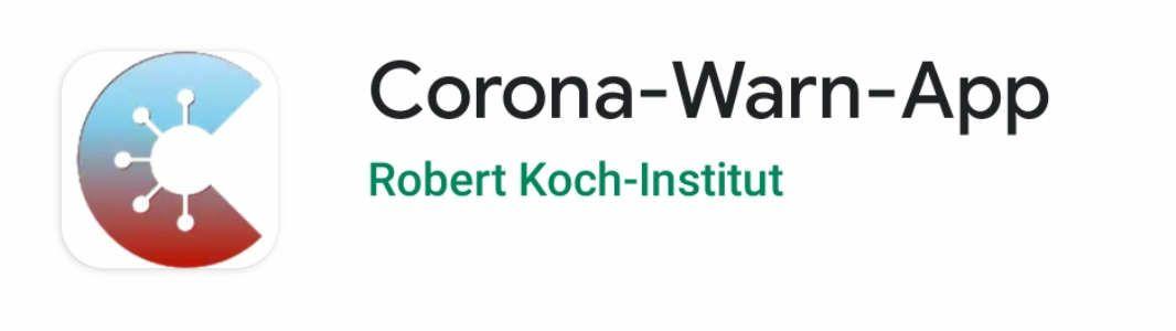 Corona-Warn-App (Quelle: Google/RKI)