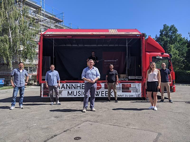 Vorstellung des Musiktrucks (Foto: Stadtmarketing Mannheim GmbH)