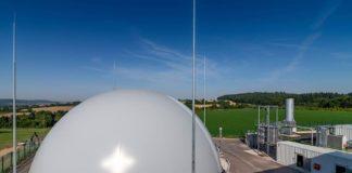 Gasspeicher der AVR BioGas GmbH mit 5.000 Kubikmeter Fassungsvermögen. (Foto: AVR UmweltService GmbH, Sinsheim)