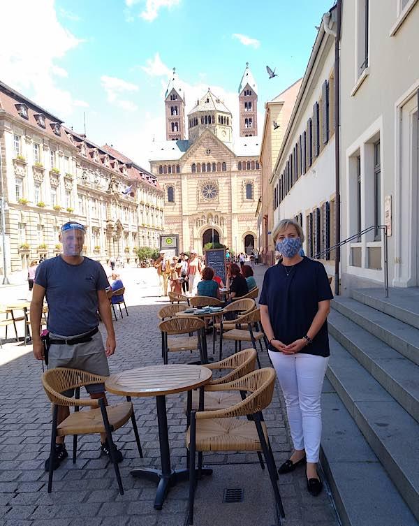 OB Stefanie Seiler und Thor Teile (Foto: Stadt Speyer)