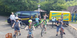 Die offene Jugendarbeit der VG Lambrecht bietet Fahrradparcour an (Foto: JUZ)