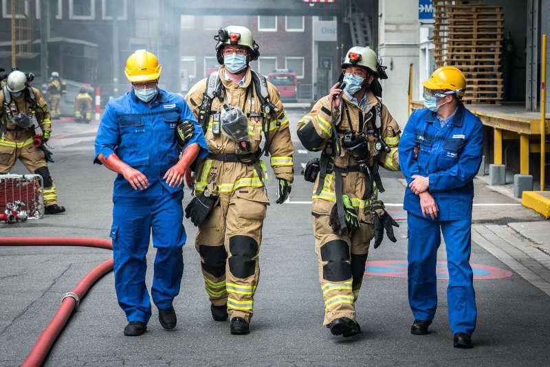 Rettung von Verletzten (Foto: BASF/Marcus Schwetasch)