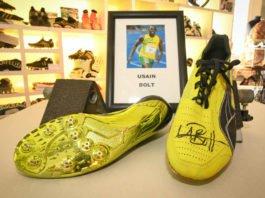 Schuhe von Usain Bolt (Foto: Riemeyer/Dt. Schuhmuseum)