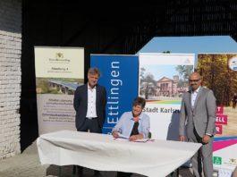 v.l.: Dr. Frank Mentrup, Sylvia M. Felder, Johannes Arnold (Foto: RP Karlsruhe)