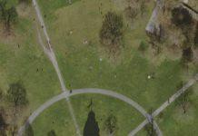 Der Karlsruher Schlosspark aus der Vogelperspektive (Quelle: Stadt Karlsruhe)