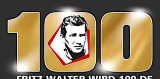 """Logo """"Fritz Walter wird 100"""" (Quelle: Fritz-Walter-Stiftung)"""