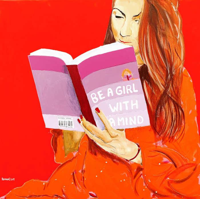 Reading girls - lesende Mädchen (Foto: Günter Hornung)