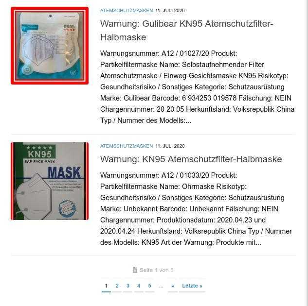 Quelle: Screenshot Produktwarnung.eu