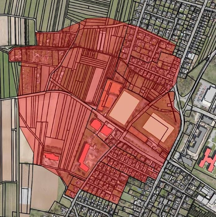 Plan Evakuierungsgebiet (Quelle: Stadtverwaltung Neustadt)