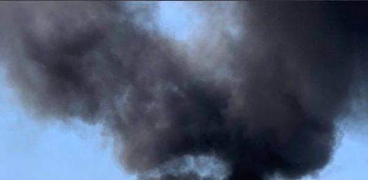 PKW-Brand auf der BAB 61 (Foto: Polizei RLP)