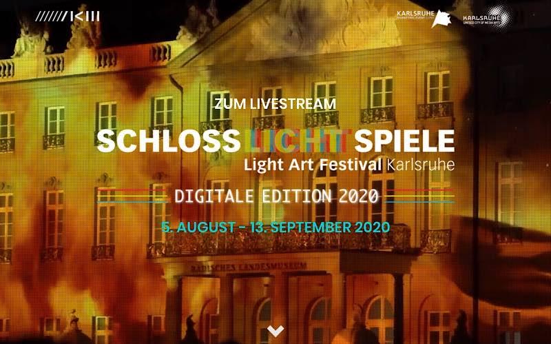 Schlosslichtspiele (Screenshot, Quelle: KME Karlsruhe Marketing und Event GmbH)