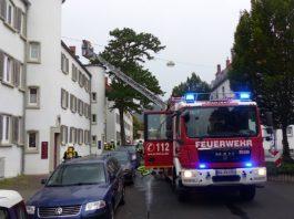 Eine Dachgeschosswohnung brannte (Foto: Feuerwehr Neustadt)