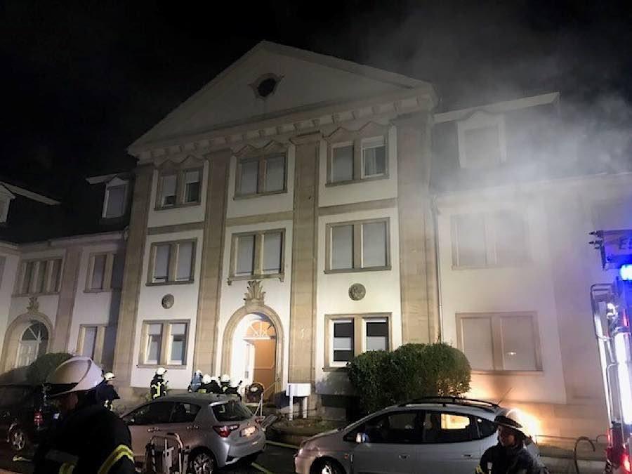 Feuerwehreinsatz in der Werderstraße (Foto: Polizei RLP)