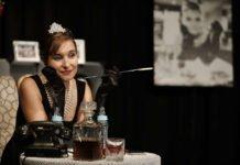 Daniela Michel in der Rolle der Audrey Hepburn (Foto: Jürgen Schurr)
