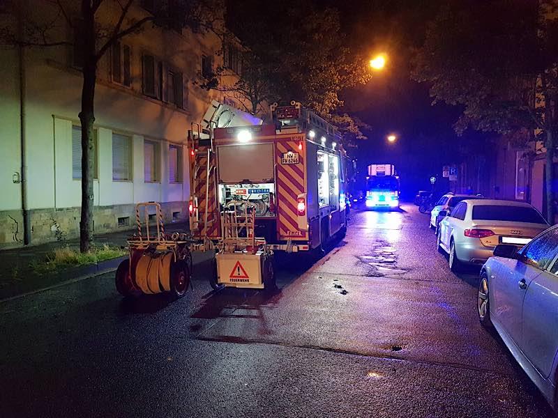 Feuerwehreinsatz in der Friedrich-Ebert-Straße (Foto: Feuerwehr Neustadt)
