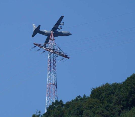 Transportflugzeug der US Airforce am 06.08.2020 über Lambrecht (Foto: Holger Knecht)