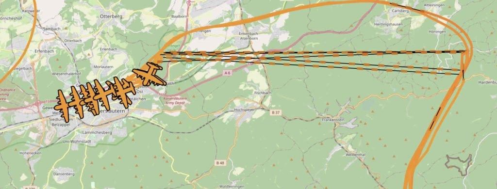 Flugzeuge am 06.08.2020 (Screenshot)