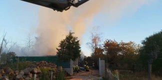 Brand Sandbuckelgelände (Foto: Feuerwehr Haßloch)