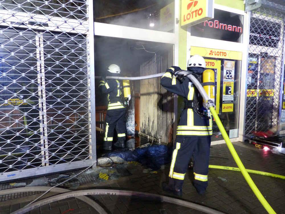 Brand in der Spitalbachstraße (Foto: Feuerwehr Neustadt)