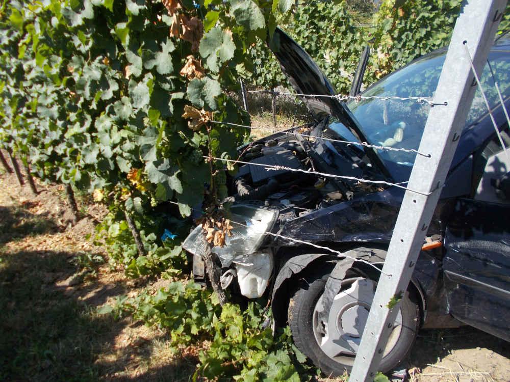 Verkehrsunfall in der Speyerdorfer Straße (Foto: Polizei RLP)