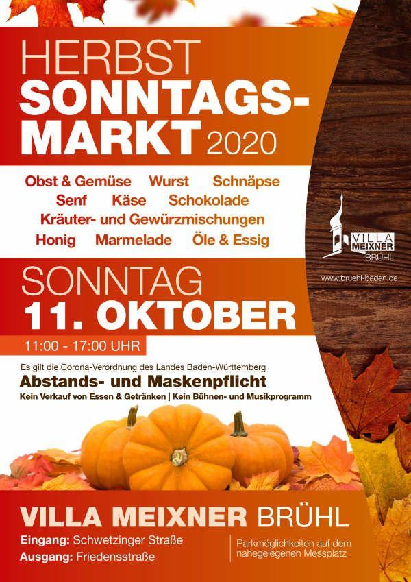 Herbst Sonntagsmarkt (Quelle: Bürgermeisteramt Brühl)