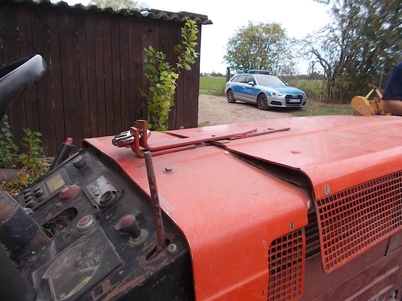 Tatobjekt Traktor (Foto: Polizei RLP)