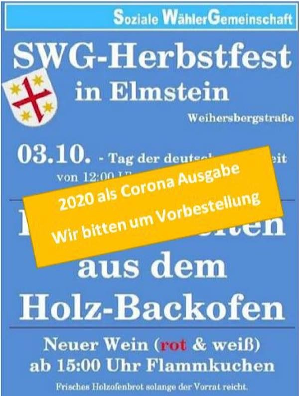 Backofenfest (Quelle: SWG Elmstein)