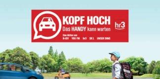 "Aktionsbild ""Kopf hoch. Das Handy kann warten"" (Foto: ADAC Hessen-Thüringen e.V.)"