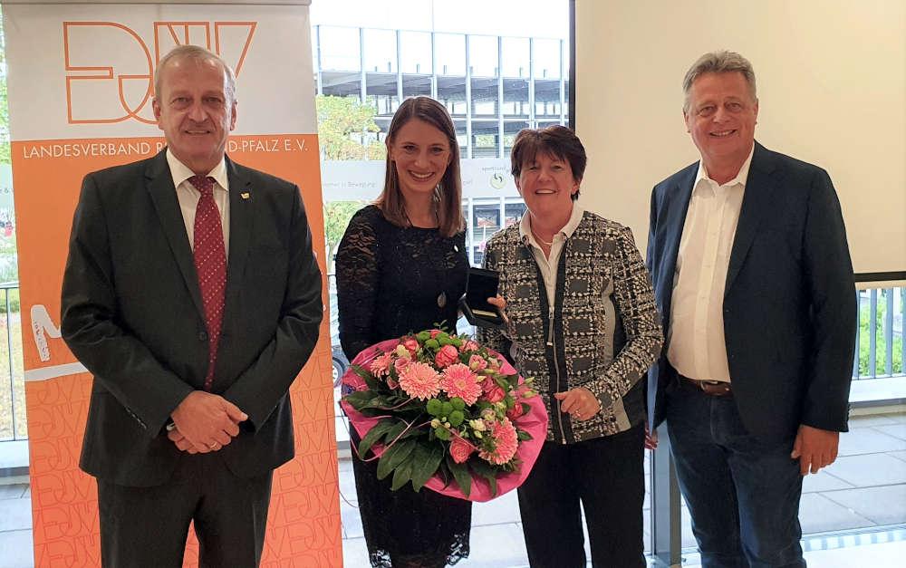 Martin Schwarzweller, Miriam Welte, Elke Rottmüller, Dr. Ulrich Becker (Vizepräsident Sportbund Pfalz). (Foto: Kaufmann)