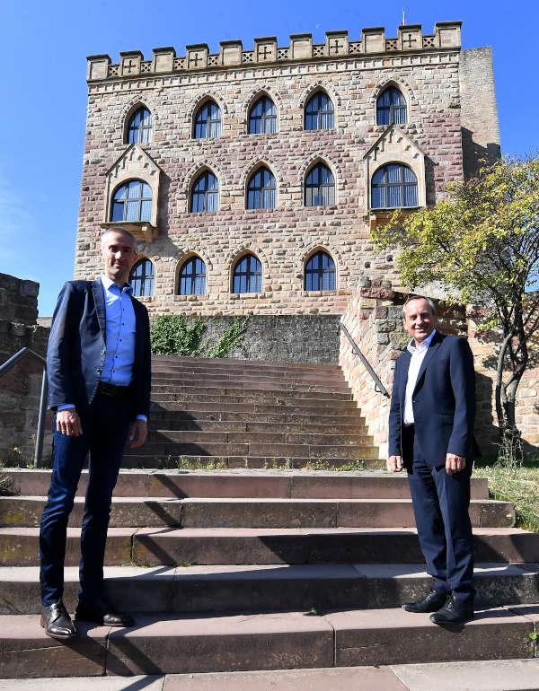 Dr. Kristian Buchna und Minister Prof. Dr. Konrad Wolf (Foto: Kai Mehn)