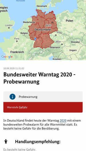 Warnung für Deutschland
