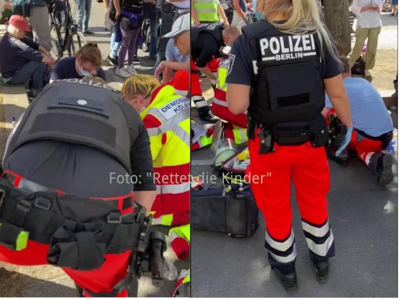 Sanitäter Polizei im Einsatz der über eine Stunde dauerte - Foto: Rettet die Kinder