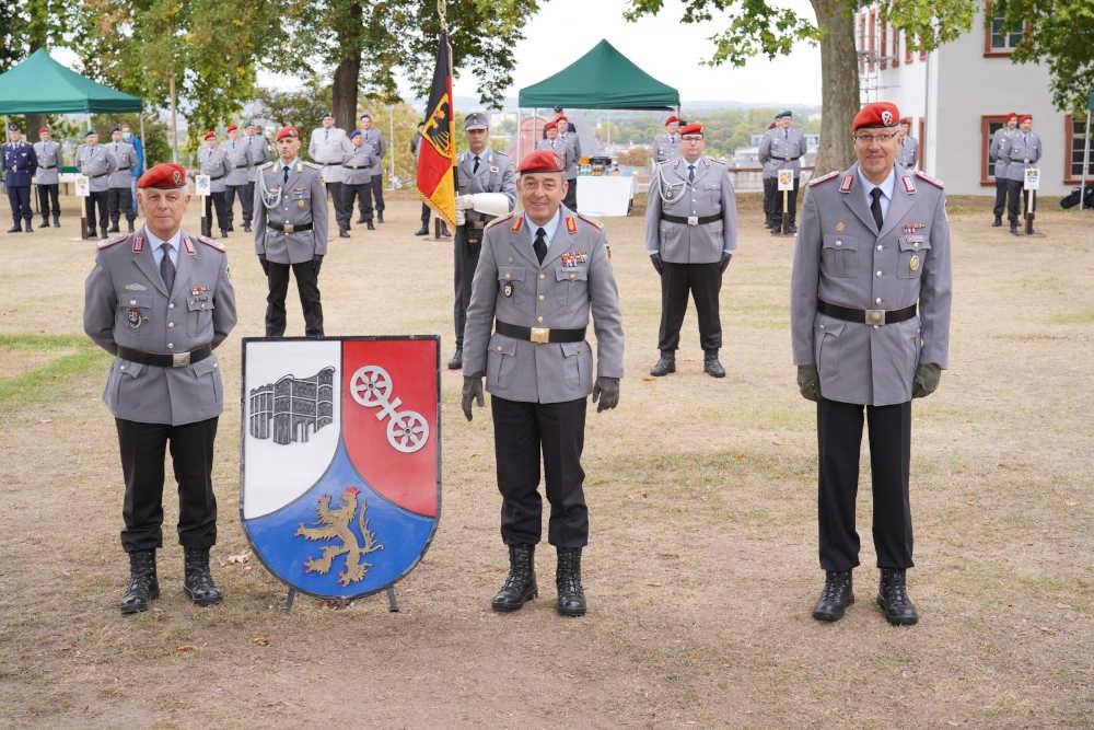 v.l.n.r. Oberst Mattes, Generalmajor Breuer, Oberst Weber (Foto: Bundeswehr/Stephan Dinges)