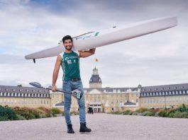 Kanute Saeid Fazloula hat in Karlsruhe seine zweite Heimat gefunden. Er will in Tokio unter der weißen Flagge des Refugee Olympic Team an den Start gehen. (Foto: GES/Helge Prang)