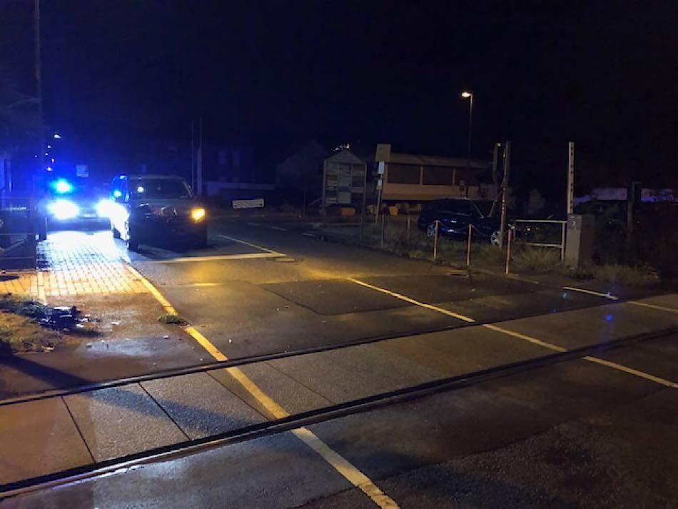 Der Bahnübergang in Kirrweiler (Foto: Polizei RLP)