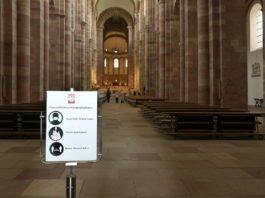 Schutzmaßnahmen am Dom (Quelle: Domkapitel Speyer / Foto: Klaus Landry)