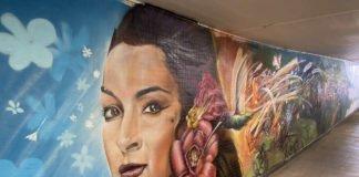 Impression der neuen Graffiti-Galerie am Hauptbahnhof Ludwigshafen (Foto: Deutsche Bahn AG)