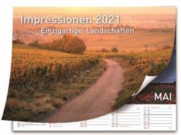 """Titelbild des Bildkalenders """"Impressionen 2021 - Einzigartige Landschaften"""" (Quelle: Sparkasse Rhein-Haardt, Foto: Christian Schwejda)"""