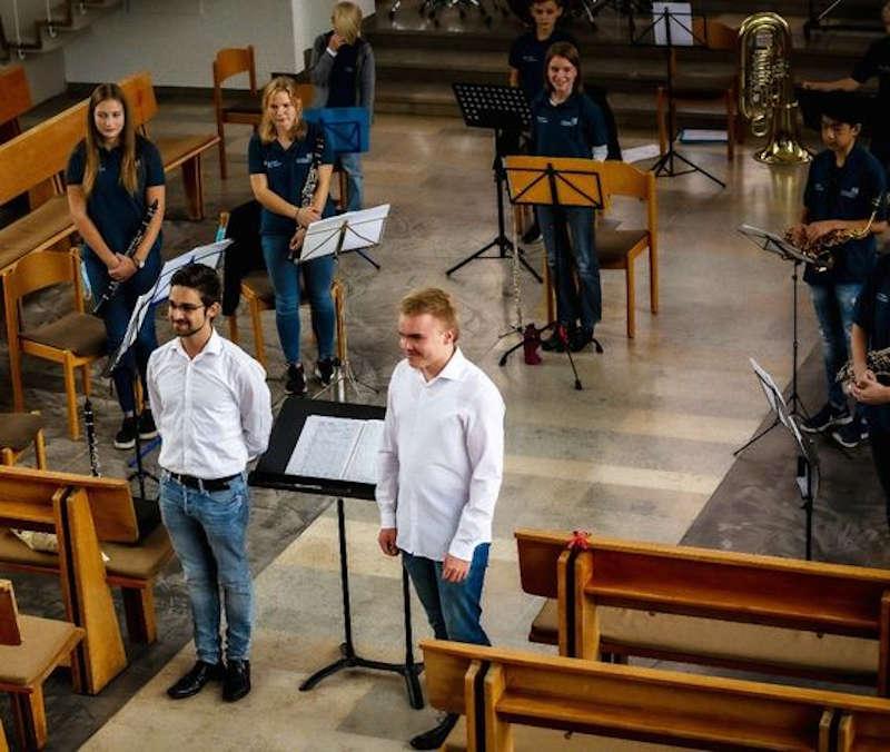 Die Dirigenten Max Stutz und Thomas Förster (Foto: Kolpingskapelle Hambach)
