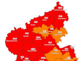 Neuinfektionen pro 100.000 Einwohner in den letzten 7 Tagen, Grafik vom 26.10.2020 (Quelle: MdI)