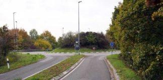 Der Kreisel an der B39/ASS Neustadt-Süd (Foto: Holger Knecht)