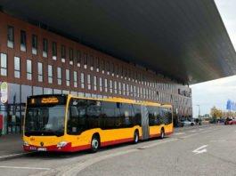 """Schnell und umweltfreundlich zur """"offerta"""" geht ́s mit dem Messe-Express der Verkehrs- betriebe Karlsruhe (Foto: KVV)"""