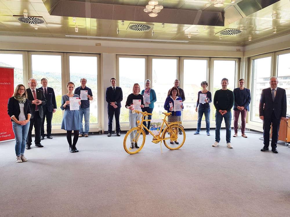 STADTRADELN-Sparkassen-Klimaschutzpreis Schulen 2020 (Foto: Sparkasse Rhein-Haardt)